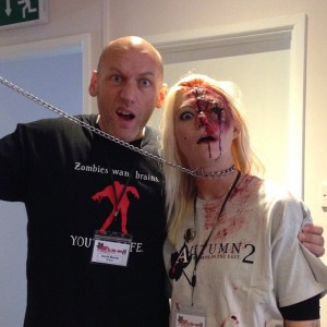 Hanging out with the people of Lowestoft. At Horror in the East with @neen_uk