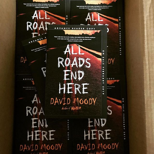 All Roads End Here by David Moody, advance copies