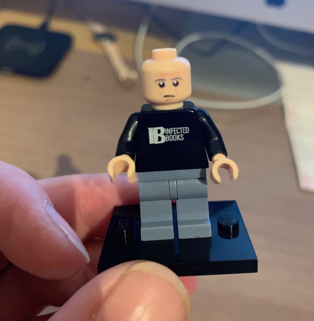A Lego mini-figure of author David Moody